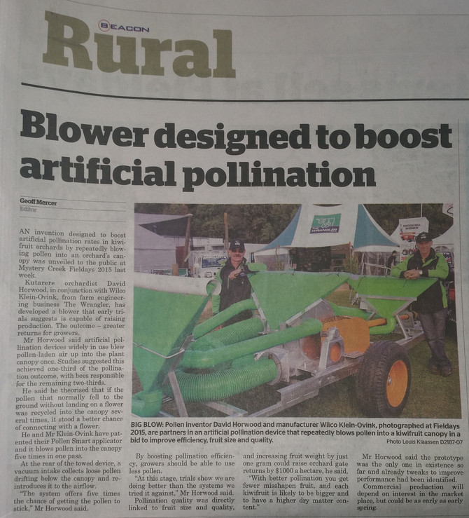 Blower designed to boost artificial pollination