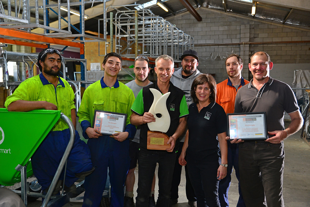 The Wrangler owners Wilco and Waverley KleinOvink and their team celebrate their latest business success at the EBOP Business Awards recently