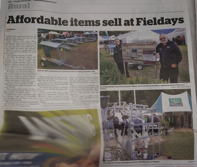 Affordable items sell at Fieldays