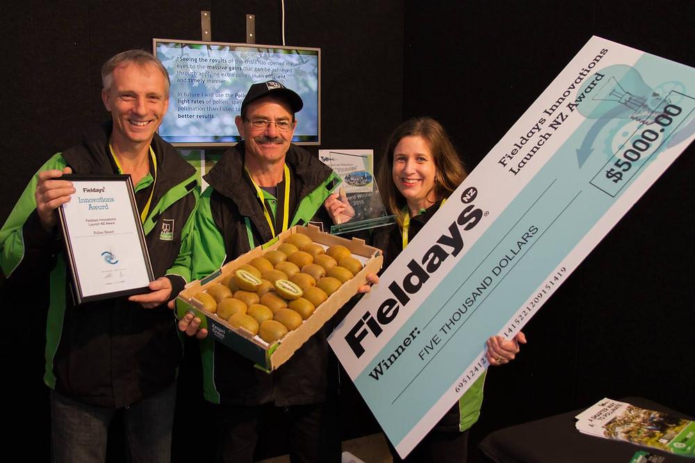 Wilco Klein Ovink, David Horwood, and Waverley Klein Ovink, Fieldays 2016 Innovation Award Winners