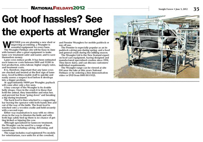 Got hoof hassles? See the experts at Wrangler
