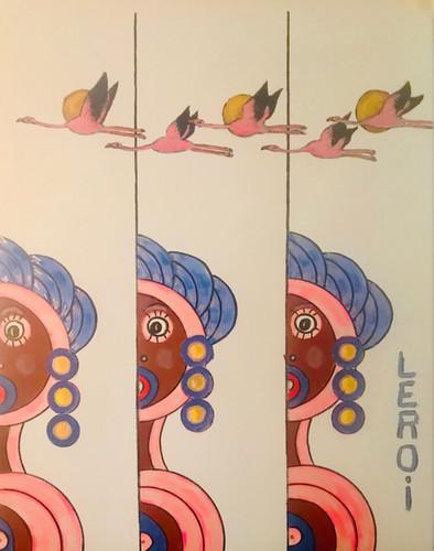 "LEROI_Colored_People_Flamingos,_2018,_Oil_and_Acrylic_on_Canvas,_30""x24"",_$2000.00.jpg.jpg"