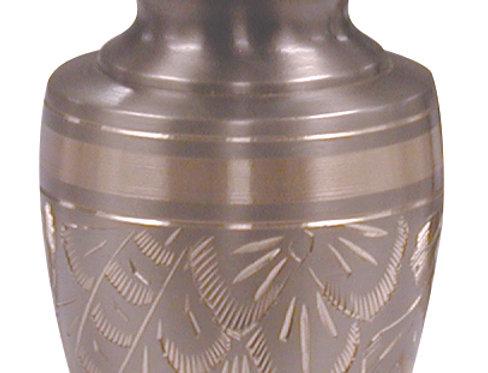 Platinum Engraved Pewter and Gold Keepsake