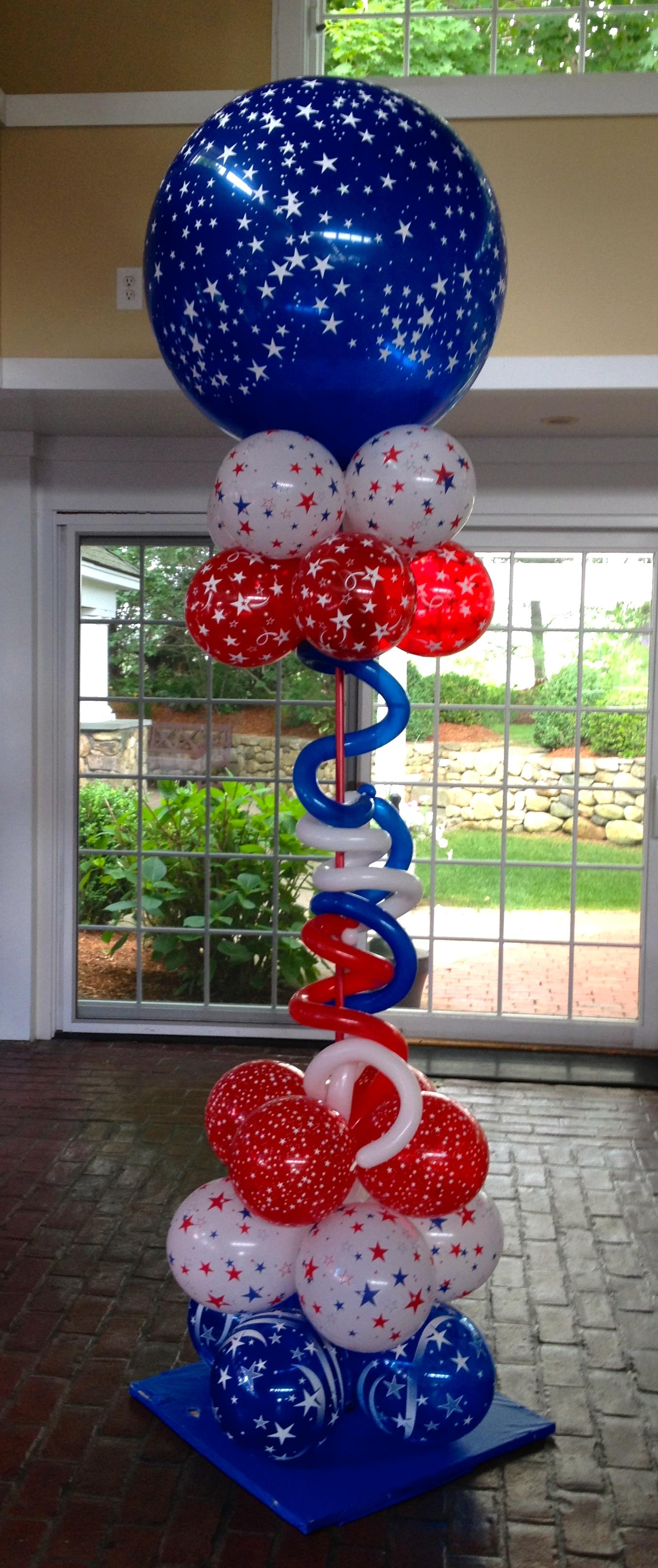 Patriotic Balloon Column