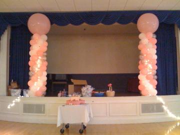 Lighted Balloon Columns