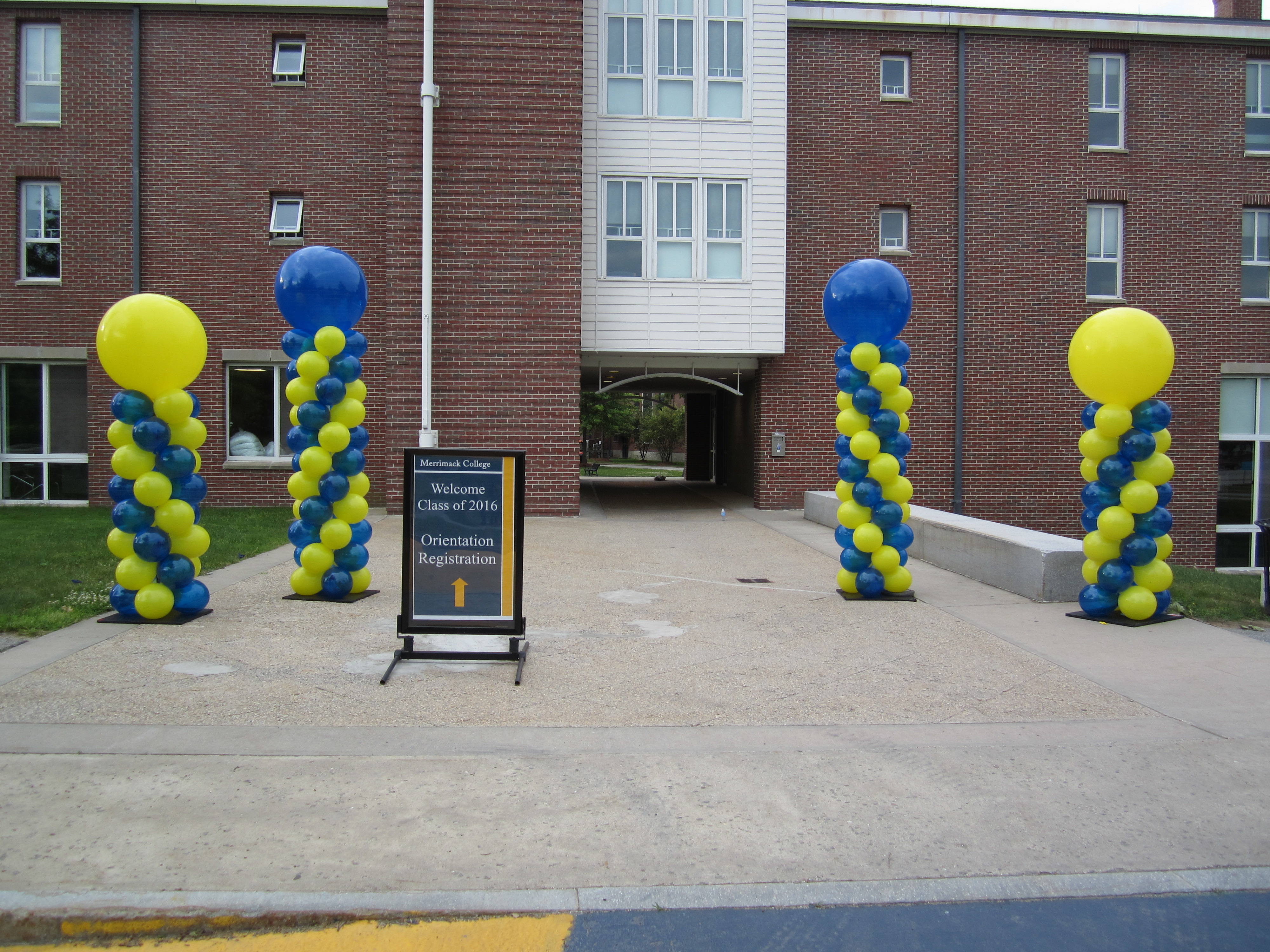 College Welcome Columns