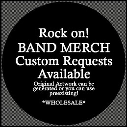 custom designs or use your bands logo fro magnets and pinbacks