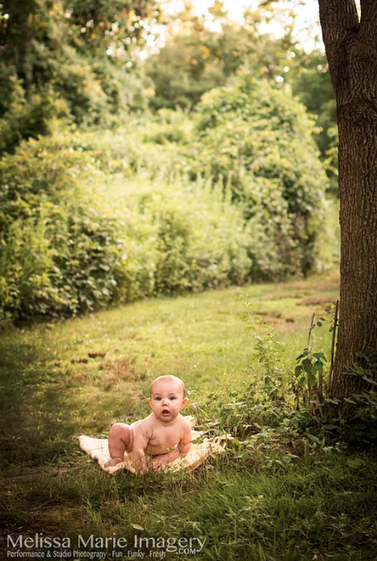 on-location infant photography