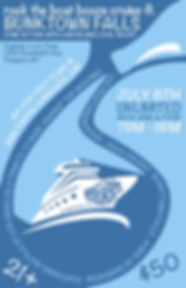 booze cruise promotional flyer