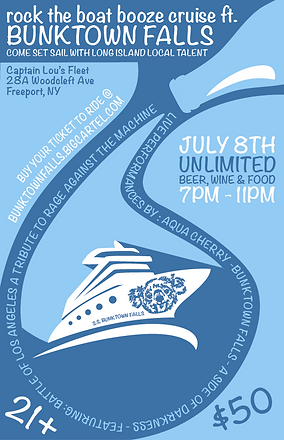 booze cruise promotional flyer