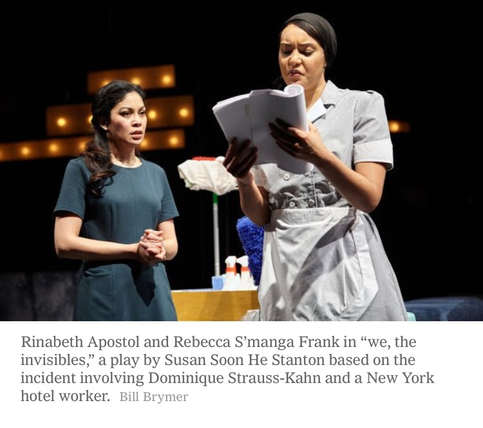 """""""Frank...hits the mark with accents and able to quickly turn around and convincingly portray a host of other completely different personalities.  Frank further impresses with her portrayal of Patty, a wisecracking Puerto Rican lesbian chef, and Dreshawn, a sweet but slick-talking head bellman."""" -WPFL"""