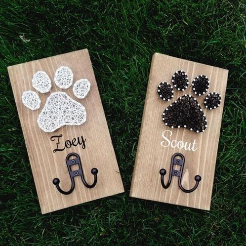 Personalized Dog Leash Holders