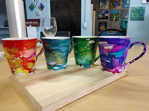 Alcohol Ink Mug Set Kit
