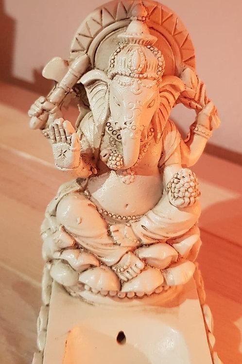Porte-encens Ganesh blanc