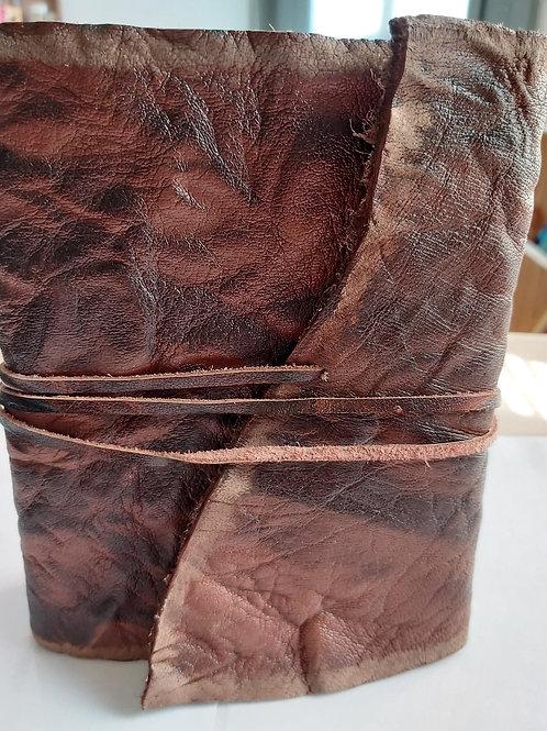 Grimoire vierge en cuir véritable