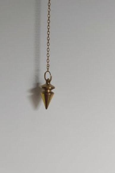 Pendule Triangle en laiton doré
