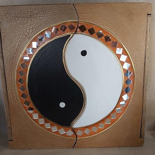 Boîte en bois Yin & Yang