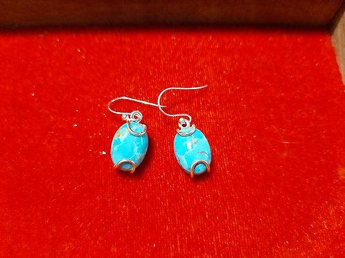 Boucles d'oreilles ARGENT -  Turquoise
