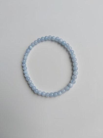 Bracelet Aigue-marine - Diamètr 4 mm