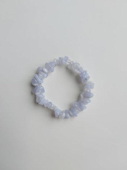 Bracelet Baroque Calcédoine - Diamètre entre 4 et 8 mm