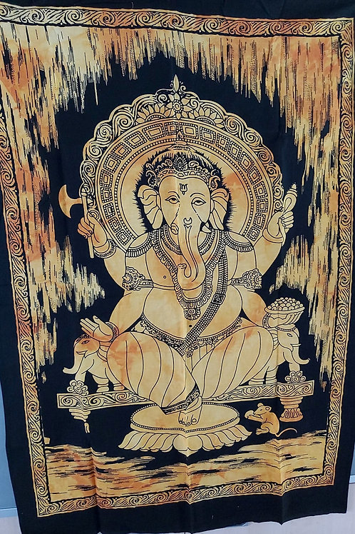 Tissu Ganesh jaune