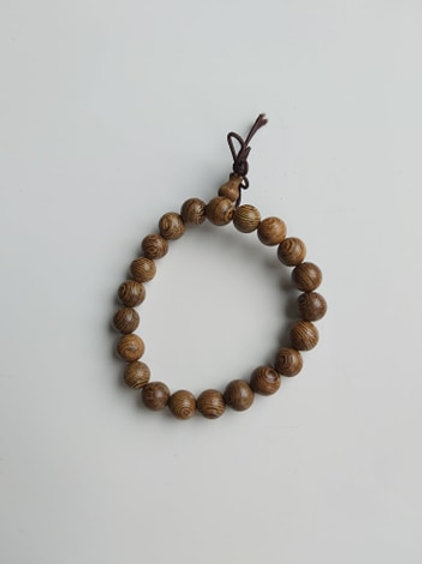 Bracelet Mala en Bois de Wengé - Diamètre 6 mm