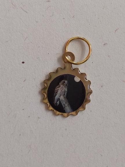 Amulette Chouette noire