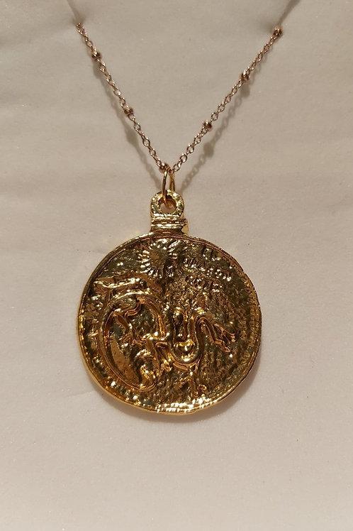 Amulette Alan Kardec et Dragon rouge