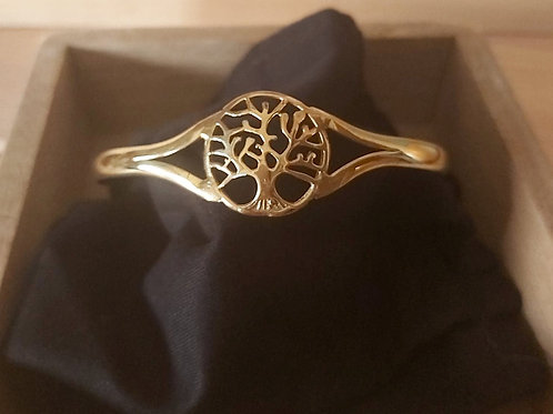Bracelet en métal doré Arbre de vie.