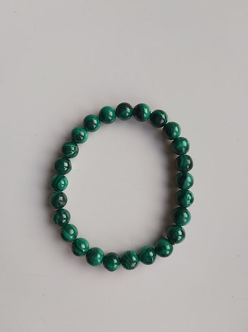 Bracelet Malachite - Diamètre 6mm