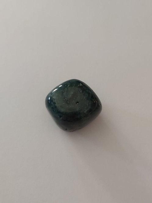 Apatite bleue pierre roulée
