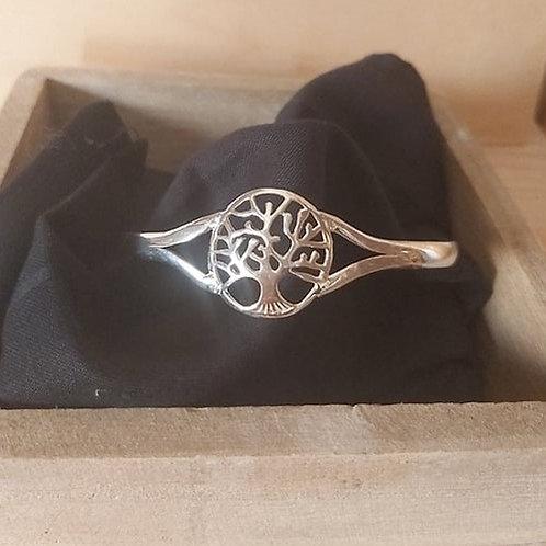 Bracelet en métal argenté Arbre de vie