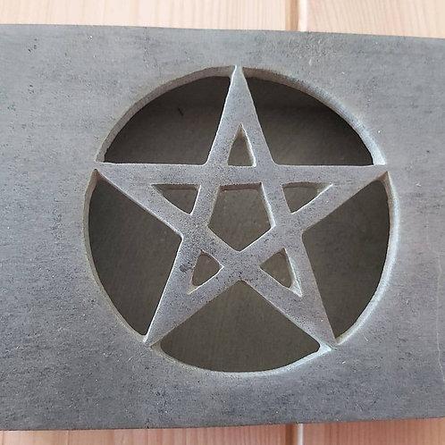 Boîte grise Pentacle en stéatite