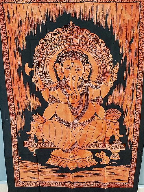 Tissu Ganesh orange