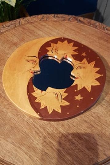Miroir décoratif Soleil et Lune