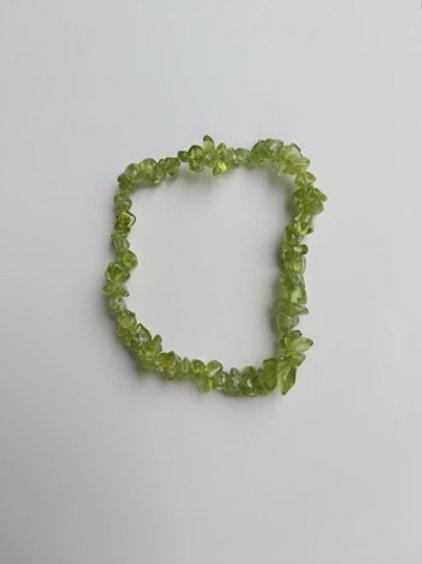 Bracelet en Péridot - Diamètre environ 4 mm