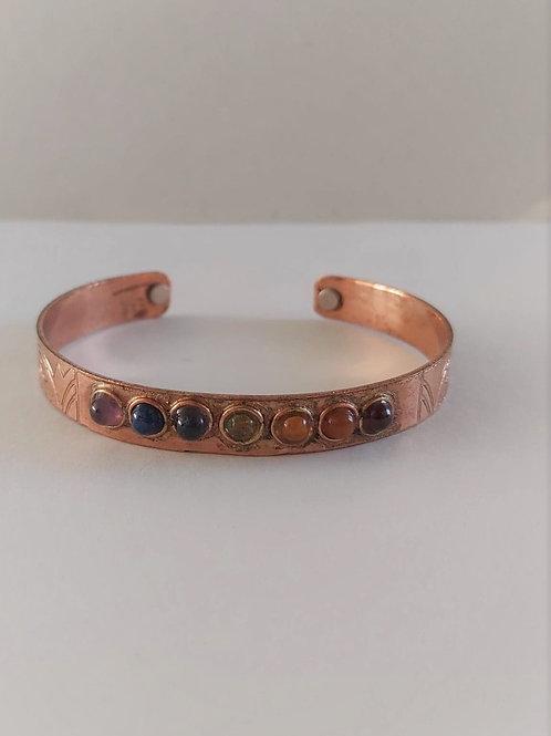 Bracelet en cuivre magnétique 7 chakras