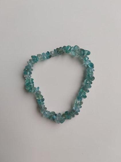 Bracelet Baroque en Apatite bleue - Diamètre environ 4 mm