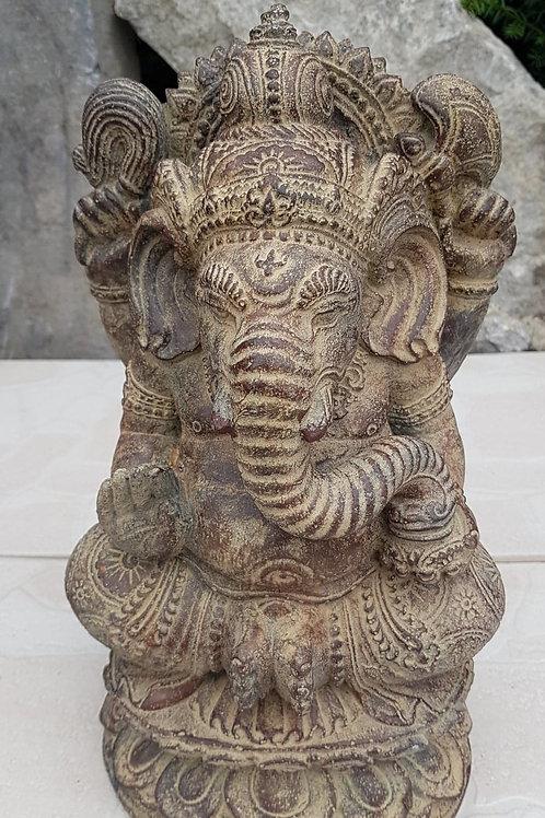 Statue en pierre Ganesh