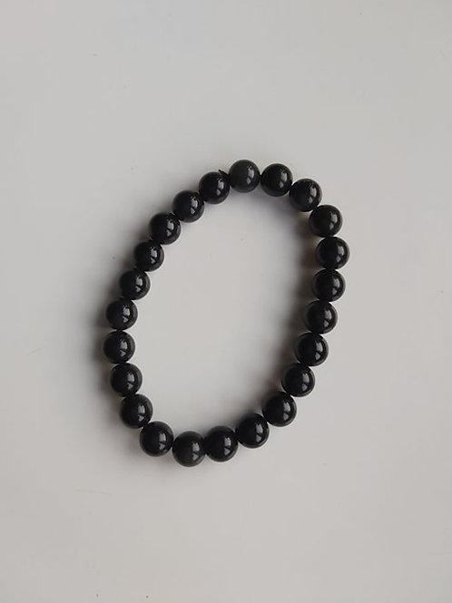 Bracelet Obsidienne Oeil Céleste - Diamètre 6mm