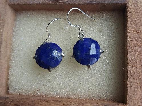Boucles d'oreilles en Lapis Lazuli - ARGENT