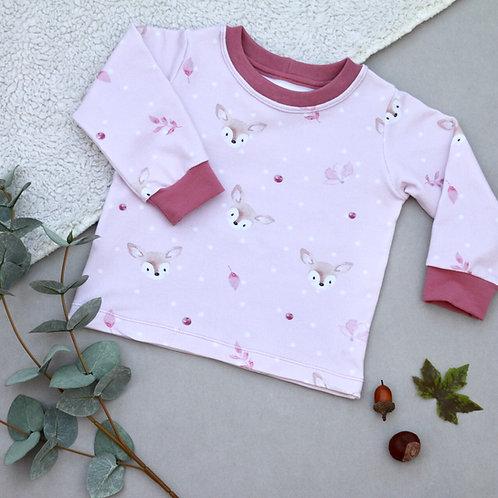 Sweatshirt rosa mit Rehen