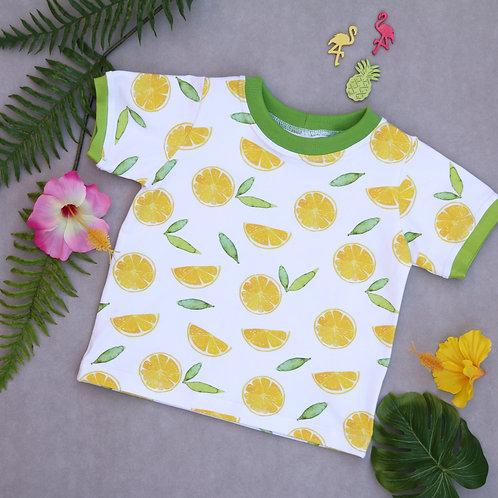 T-Shirt weiß mit Zitronen