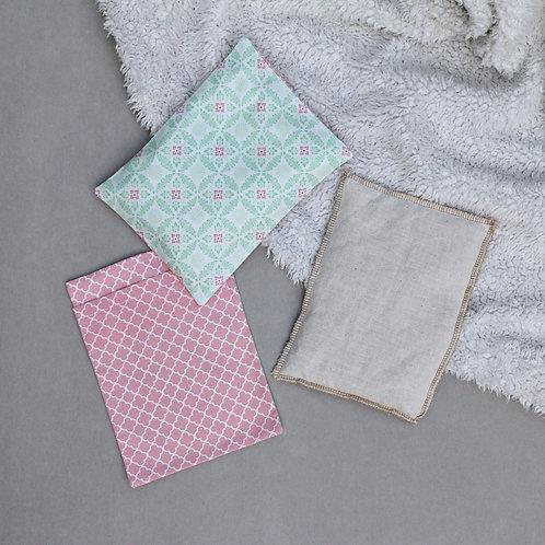 Wärmekissen florales Muster rosa / hellgrün