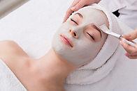 Face peeling mask, spa beauty treatment,