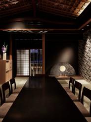 京都七条、お茶屋に作品を設置。