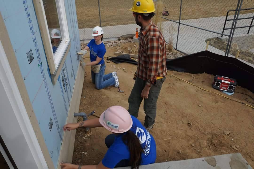 Volunteering for Habitat for Humanity
