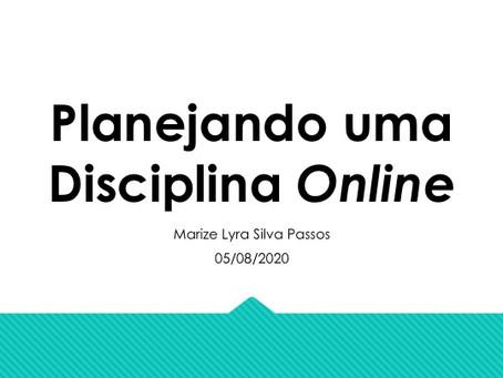 Planejando uma Disciplina On-line