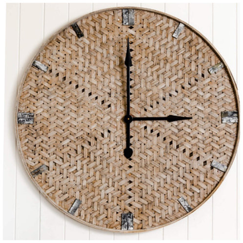90cm White Wash Clock