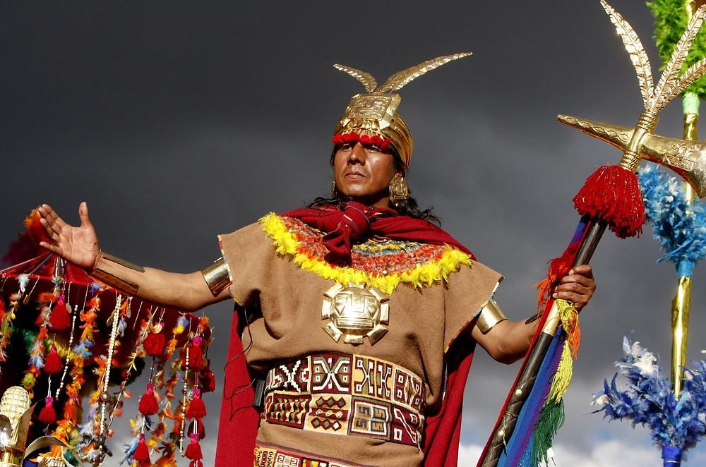 Inca Wearing Rainbow Color